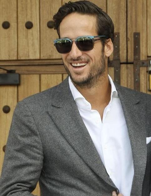 Feliciano López, fan de la marca de gafas Police Image