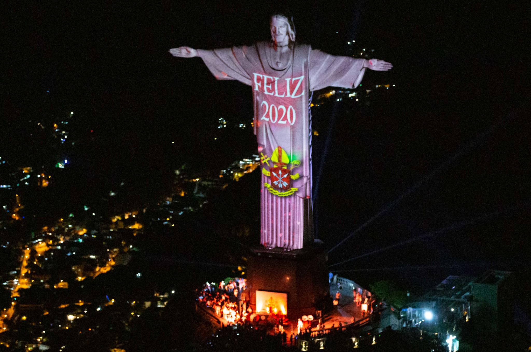 Réveillon Rio 2020 - Cristo Redentor - Rio de Janeiro. 31.12.2019. Photo: Fernando Maia / Riotur.